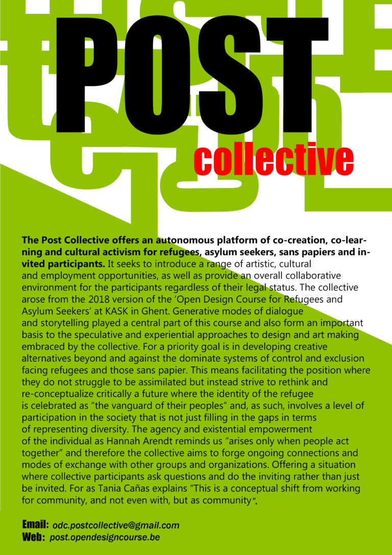 the post collective description poster